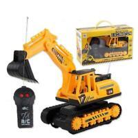 Kid Remote Control Digger RC Toy Excavator Truck Radio Construction P2W7