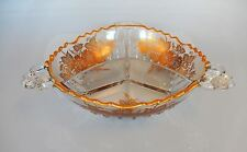 Silver City Glass Co. Bowl Sterling Overlay Queen's Rose