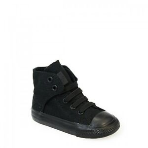 Converse All Star Chuck Taylor Easy Slip Toddler Mono Black Canvas Ankle Trainer