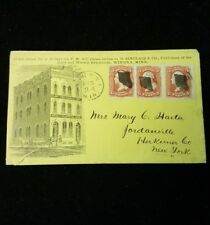 Daily and Weekly Republican postage advertising cover with washington stamps