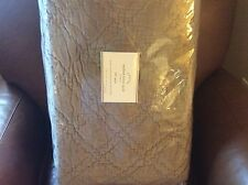 POTTERY BARN Washed Velvet FULL/QUEEN Quilt NEW - Brownstone