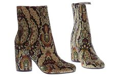 Top Shop HARRY Jacquard Ankle Boots [32H05KMUL] Size US 6.5