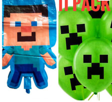 Minecraft Birthday party balloons 11 pack FREE SHIPPING!