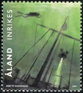 ALAND  2009 Divers Shipwreck MNH  Unused stamp | Finland