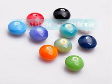 10/50pcs 12x7mm Oblate Abacus Porcelain Ceramic Mixed Color Loose Spacer Beads