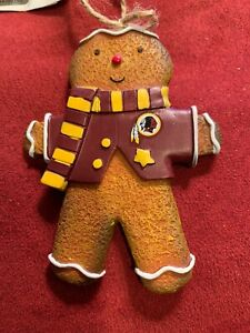 Washington Redskins NFL Gingerbread Man Christmas Ornament - New With Tag. HTTR!