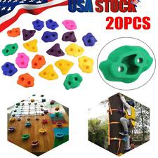 20Pcs Multi Colour Textured Climbing Rocks Wall Stones Kid Assorted Kit Bolts