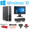 FAST Quad Core i5 HP PC Desktop Computer 1TB 480GB SSD 16GB Windows 10 Monitor