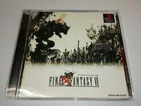 PS1 FINAL FANTASY VI FF 6 Japan PS PlayStation 1 F/S