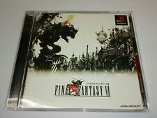 PS1 FINAL FANTASY VI FF 6 Japan PS PlayStation 1 F/S