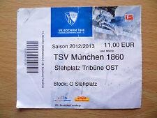 Tickey 2012/2013 - TSV Munchen 1860, stehplatz Tribune Ost-Bundes Liga