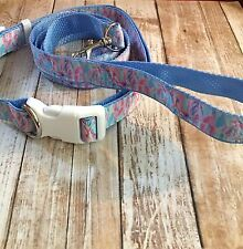 Lilly Dog Collar And Leash Set In Out To Sea Print