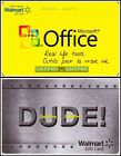 2x WALMART MICROSOFT OFFICE STAINLESS STEEL MAN DUDE COLLECTIBLE GIFT CARD LOT For Sale