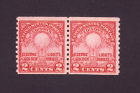 Scott  # 656....Edison's Lamp..Coil Pair... Mint OG NH ....  Catalog Value 45.00