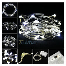 New Battery Powered Copper Wire 30 Led String Fairy Light 3M/10FT Pure White US