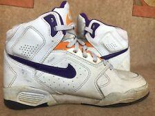 VTG 1991 Nike White Mens Basketball HighTop Sneakers OG Made in Korea Sz 8.5