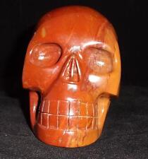 Red Agate Carved Crystal Skull Realistic Free Shipping USA Seller