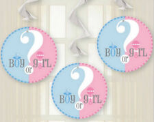 3 boy or girl hanging decorations baby shower