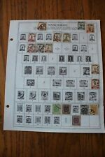 B03 Lot of Manchukuo Northeastern China Stamps on 1 Minkus binder Page