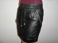 NEW WOMAN'S LADIES FULLY LINED 100% BLACK LEATHER SKIRT SIZE 8 TO PLUS SIZE 26