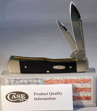 Case XX 2020 Exquisite BLACK Synthetic  22714 SS Large GUNSTOCK Pocket Knife