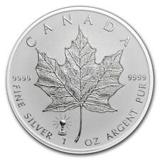 2018 Canadian Maple Leaf 1 oz .9999 Silver RP Coin With Edison Light Bulb Privy