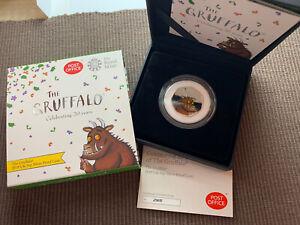 2019 The Grufallo SILVER PROOF 50p pence coin rare black box CoA Royal Mint