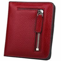 RFID Blocking Wallet Women's Small Compact Bifold Leather Purse Front Pocket Min