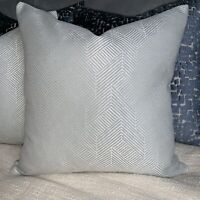 "Luxury Cushion Cover 16"" John Lewis & Partners Esher Fabric Grey Geometric"