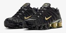 Nike Shox TL Sneaker Uomo in Nero e Oro REGNO UNITO tutte le taglie Grande Vendita Nuovo di Zecca ✔