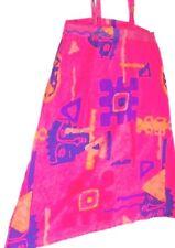 Pink Sun Dress Hippie Dress Pink Dress Abstract Art Pink Beachwear Women's