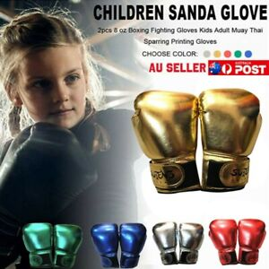 Children Kids Boxing Sparring Training Gloves MMA Kick Boxing Punching Gloves AU