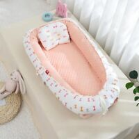 2 Pcs Winter Travel Crib Nest Velvet Lining Baby Slepping Bed Portable Nursing