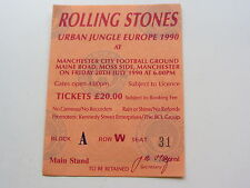 The Rolling Stones ticket 20TH juillet 1990, Manchester City Football Groud U.K.