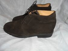 CLARKS MEN'S BROWN SUEDE LEATHER LACE UP ANKLE BOOT SIZE UK 11 G EU 45 VGC