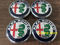 ALFA ROMEO ALLOY WHEEL CENTRE HUB CAPS - CHROME/BLACK/WHITE 60mm