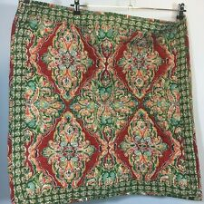 Pottery Barn Euro Sham Square Quilted Red Green Paisley SINGLE 1