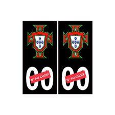 autocollant plaque immatriculation Portugal FPF F avec numéro au choix noir 2-1