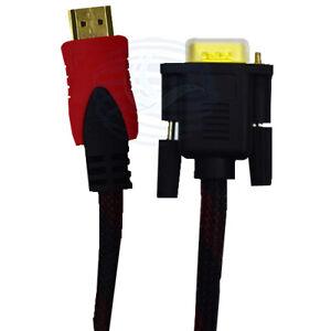 Cavo hdmi vga retinato 1080p con connettore 24k varie misure MAXTECH HDVA RT.