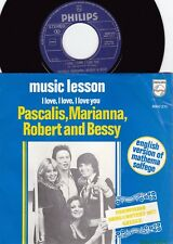 Pascalis Marianna Robert & Bessy ORIG EURO PS 45 Music lesson NM '77 Eurovision