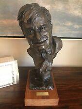 Rare Will Rogers Bronze Sculpture #20/100 Gallagher Rule. Original Certificate