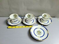 Vtg Alfred Meakin Tea Cup set  Floral Raised Decor Lot of 3 Cups & 5 Saucers