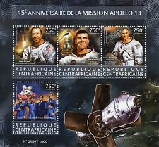 Central African Rep 2015 MNH Apollo 13 Mission 45th Anniv 4v M/S Richard Nixon