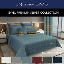 Velvet Quilt Maxi Set Jewel by Maison Atlas | Premium, Cotton Back & Filling New