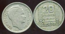 ALGERIE ALGERIA  20 francs  1949