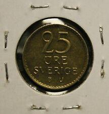 1970 SWEDEN - SVERIGE - 25 ORE COIN - UNC.