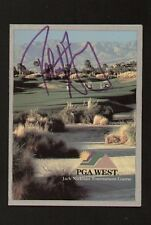 Robert Gamez signed autograph auto PGA West Scorecard