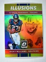 2017 Donruss Optic Illusions Gold Refractor 19 D'Onta Foreman Ricky Williams /10
