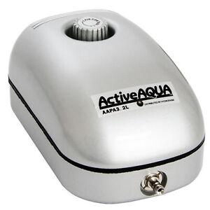 Active Aqua 2 Watt 3.2 LPM 50 GPH 120 Volt Single Outlet Aquaponics Air Pump