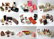 76 Pieces of Vintage Doll House Furniture and Props